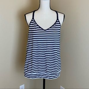 Navy stripped The limited racer back style top